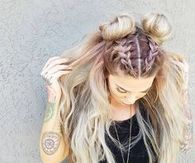 Cool double Bun hairstyle