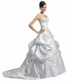 Embroidery With Sequins Bridal Ball Gown Wedding Dress Size:6,8,10,12,14,16