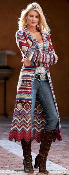 crochet casacos