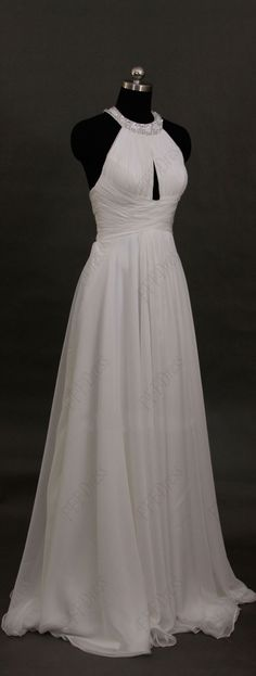 Halter beach wedding dresses chiffon wedding dress destination wedding dresses