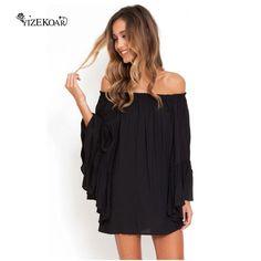 YIZEKOAR 2017  vestidos Black/white Ethereal Chiffon Mini Dress LC22010 Summer vestido de festa Sexy Dress #Affiliate