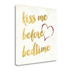 Tangletown Fine Art 'Goodnight II' by Pela Studio Textual Art on Wrapped Canvas in White