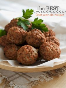 This is by far the best meatballs ever recipe, having been handed down for over 100 years! You will never make meatballs any other way again! The Best Meatballs Ever Recipe  Save Print The Best Meatballs Ever Recipe Author: Michelle, Thrifty Diva Ingredients 1 pound ground chuck 4 ounces dried bread crumbs 4 large […]