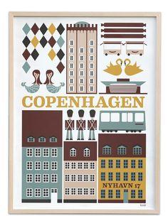 Copenhagen Poster Print BY ferm living#AIBIJOUXloves