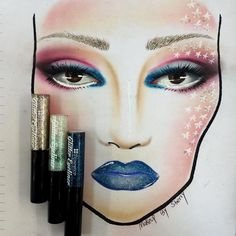 Ultra-talented IG'er makeupbysherry used our Glitter Eyeliners to make this stunning face chart  ! ★★★ BH COSMETICS