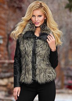 Glamorous doesn't even begin to cover it. Venus faux fur front coat.