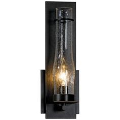 """New Town Collection Seedy Glass 12 1/2"""" High Wall Sconce 