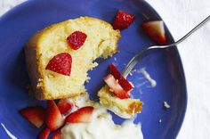 This recipe comes from my grandmother, and my mom has been making it for my dad's birthday/Father's Day (which tend to fall on the same weekend) for as long as I can remember. I would describe it as having a flavor similar to pound cake, but with a lighter crumb. It's wonderful plain or frosted, but my family serves it with fresh strawberries and whipped cream in the summer.