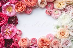 Check out Styled Stock Photo, Floral Frame by Anna Delores on Creative Market