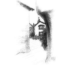 Sketch A Day, Fine Art Drawing, Art Drawings, Sketches, Shop Art, Cumbria, Cubism, Lake District, Uk Shop