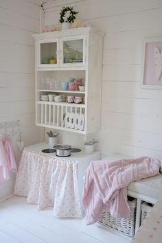 White playhouse interior.