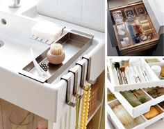16 ideas para un baño pequeño y low cost Ideas Para, Storage, Furniture, Home Decor, Bathrooms, Awesome, House Decorations, Home, Blue Prints