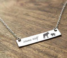 Mama Animal Bar Necklace
