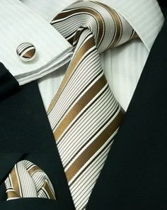 Brown & White Tie