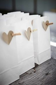 Cute and simple party favor bags