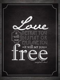 Favorite Mumford lyric :)