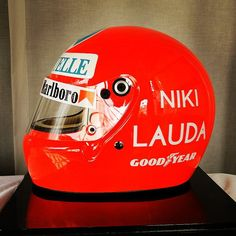 """Niki Lauda Helmet 1976 #nikilauda #f1 #formula1 #motorracing #grandprix #race #racing #cars #car #motorsports #sports #ride #drive #driver #vehicle…"""