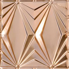 Decorative Ceiling Tiles, Inc. Store - Art Deco Triangles - Copper Ceiling Tile -