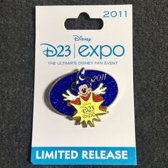 Disney D23 2011 Expo Logo pin Sorcerer Mickey Limited Release  #Disney