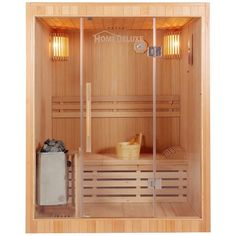 The 3 person sauna room has 2 bench (level). ALEKO Indoor Hemlock Canadian Wood Sauna brings all the luxury and comfort of the indoor Sauna at a more accessible price point. Improve your health by: sleeping Sauna Heater, Dry Sauna, Steam Sauna, Wooden Handles, Door Handles, Canadian Hemlock, Indoor Sauna, Traditional Saunas, Stove Accessories