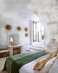 """697 Likes, 11 Comments - HENDRIX & HARLOW - Official (@hendrixandharlow) on Instagram: """"What a way to greet the day! Bedroom magnificence in the ancient town of Spello, Italy."""""""