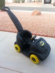 Batman paint job on a Step 2 push car.