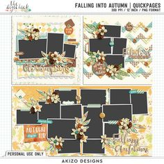 Falling Into Autumn | Quickpages by Akizo Designs for Digital Scrapbooking Layout Page
