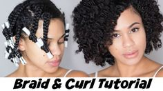 Braid and Curl Tutorial on Natural Hair with Hair Yum [Video] - http://community.blackhairinformation.com/video-gallery/natural-hair-videos/braid-curl-tutorial-natural-hair-hair-yum-video/