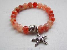 Orange Carnelian Gemstone Bracelet
