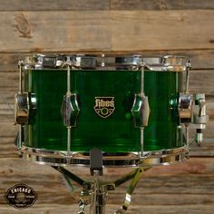 Fibes 7x12 Austin Era Acrylic Snare Drum Green 2002