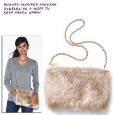 mark. Warm Up To It Muff Bag #winteraccessories #handbag #purse #muff