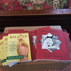 Woo hoo! Look what UPS just dropped off at our house: first run copies of the Christmas journal I published earlier this month and advanced reader copies of my book on BALANCE that is scheduled to launch next week!