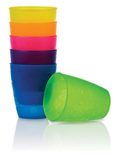 Nuby BPA Free 4 Pack Fun Drinking Cups, 9 Ounce (Pack of Helps toddlers transition to regular cups Top rack dishwasher safe BPA free Toddler Birthday Gifts, Baby Snacks, Play Table, Kids Up, Niece And Nephew, Made Of Wood, Cool Baby Stuff, Baby Accessories, Play Houses