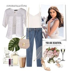 """Congratulations To My Girl"" by rever-de-paris ❤ liked on Polyvore featuring Chloé, H&M, FABIANA FILIPPI, L'Agence, A.P.C., Rosendahl, La Mer, Riedel, Raye and Korres"