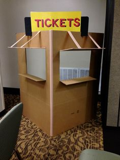 ticket booth - make concession stand with kids kitchen