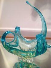 Stunning Uranium SIGNED Chalet Art Glass Spike Mid Century Retro Vaseline Blown Glass Art, Art Deco Glass, Murano Glass, Fused Glass, My Glass, Glass Vase, Sculpture Art, Sculptures, Coloured Glass