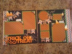 Trick or Treat by mazzybear - Cards and Paper Crafts at Splitcoaststampers #scrapbooklayouts