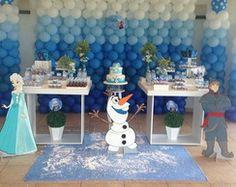 decoração festa frozen baloes - Pesquisa Google