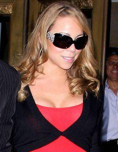 Mariah Carey in Bvlgari sunglasses.