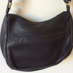Black deerskin crossbody bag Soooo soft, black deerskin crossbody or shoulder bag.   Adjustable strap.   Outside zip pocket, inside pouch pocket.   Beautiful condition.   022905 Bags Crossbody Bags