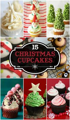 15+ Christmas Cupcake Ideas perfect for this holiday season! { lilluna.com }