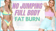 NO JUMPING FAT BURN - 10 Min Full Body Cardio Workout | Rebecca Louise - YouTube