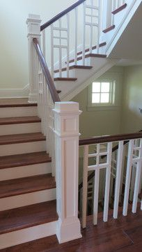 Painted Wood Banisters Design Ideas, Pictures, Remodel and Decor