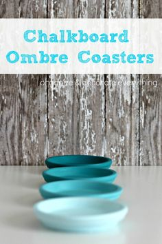 Chalkboard Ombre Coasters - The Crafting Chicks