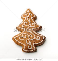 Christmas gingerbread tree by mradlgruber, via ShutterStock