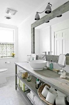 32 Relax Rustic Farmhouse Bathroom Design Ideas, Rural design can create a home like a cottage found in the countryside. The design is quite adequate and capable to serve as the principal alternative. Rustic Bathroom Designs, Rustic Bathrooms, Design Bathroom, Bathroom Interior, Small Bathrooms, Vanity Design, Bath Design, Bathroom Furniture, Rustic Furniture