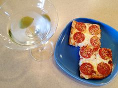 Pizza with a Martini, odd combination?
