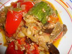 Bucataria cu noroc - Musaca cu legume amestecate Noroc, Vegetarian, Chicken, Meat, Cubs, Kai