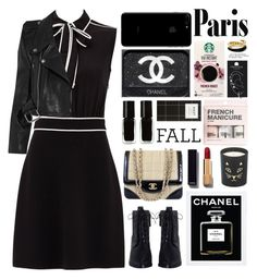 """""""Parisian"""" by igedesubawa ❤ liked on Polyvore featuring Boutique Moschino, Vetements, Zimmermann, Chanel, The New Black, H&M, Topshop, Michael Kors and Charlotte Olympia"""