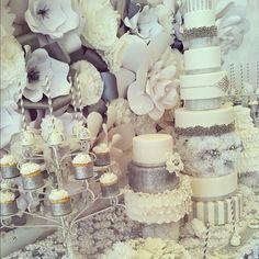 .@Kerri Cupcake Instagram photos | Webstagram - Newport wedding. Cake love. Glamour. Over the top. Paper flowers. Glitz. wedding cake. cupcakes